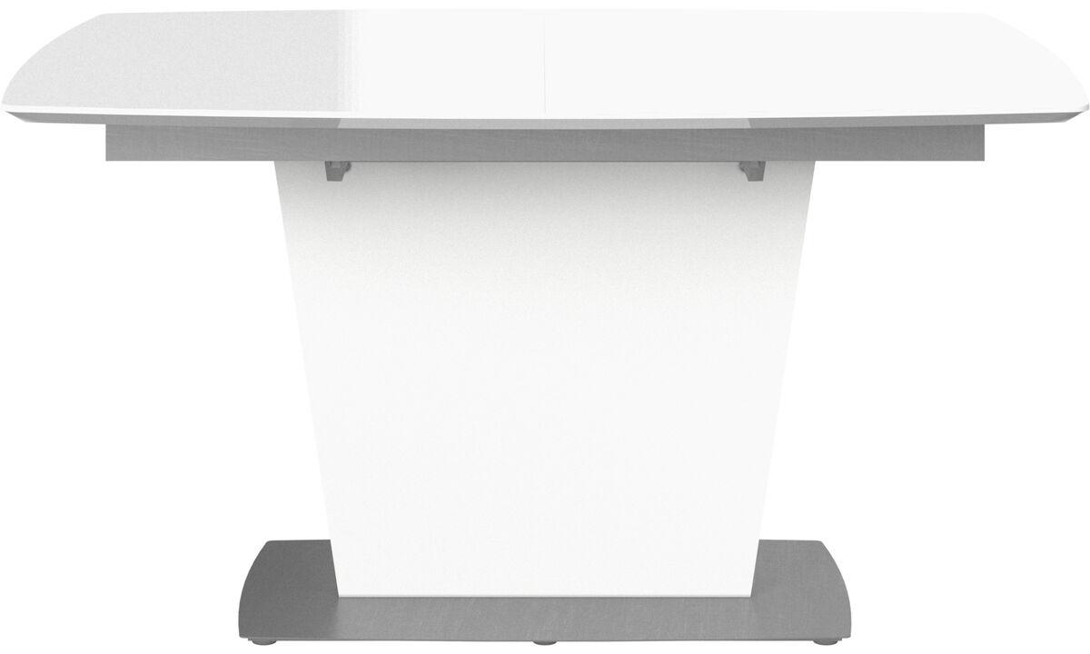 Stoły do jadalni - stół Milano z dodatkowym blatem - prostokątny - Biały - Szkło