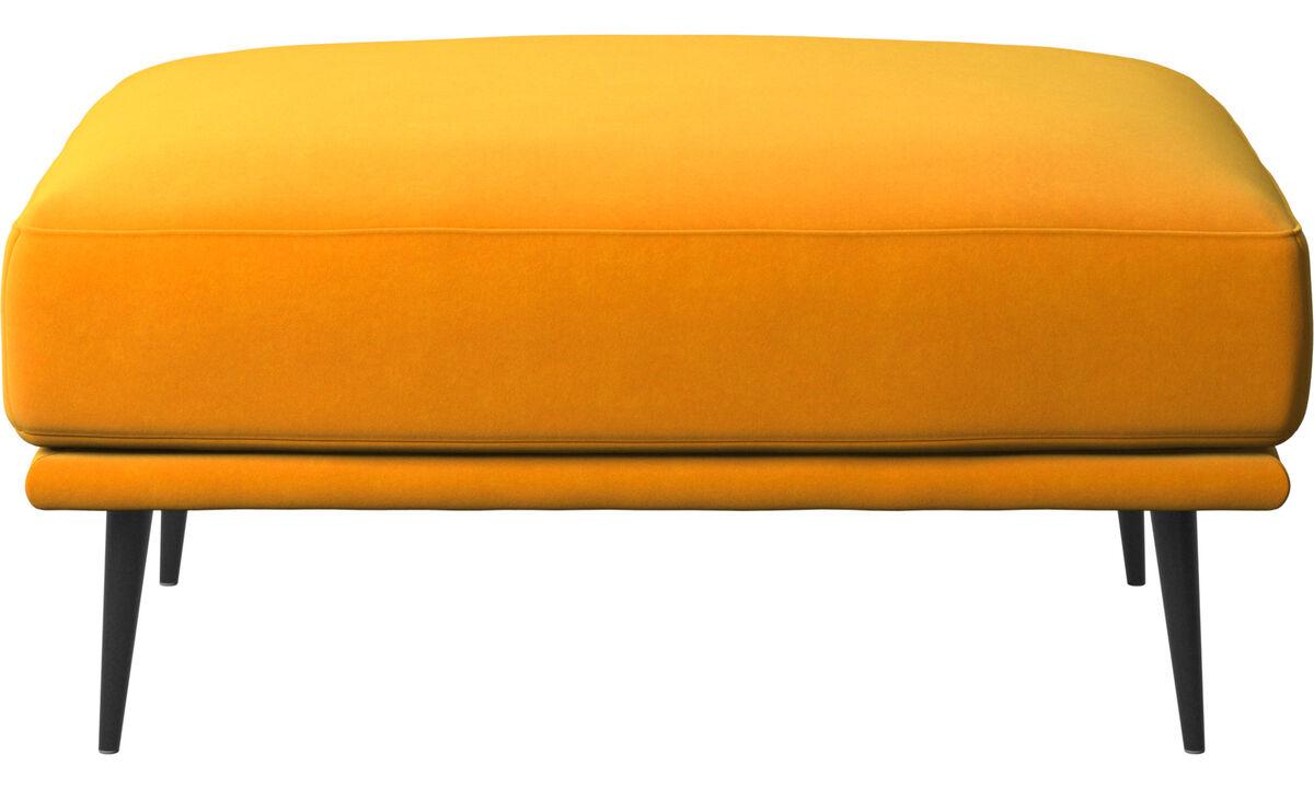 Footstools - Carlton footstool - Orange - Fabric