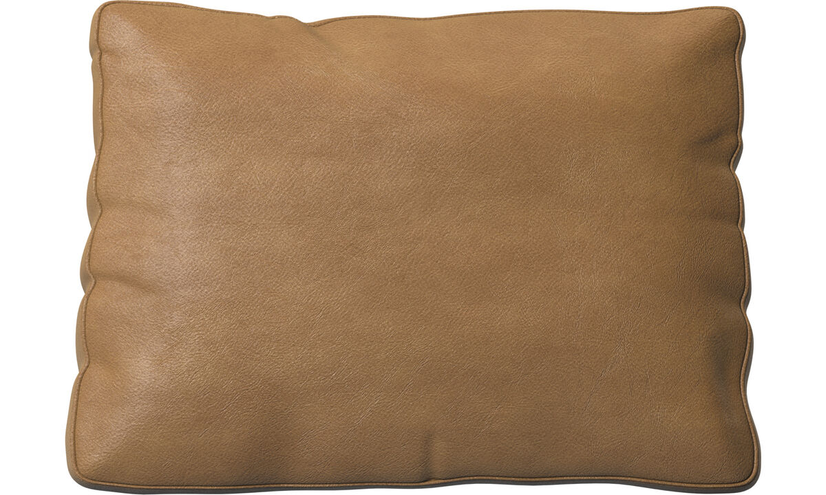 Miami cushion - Brown - Leather