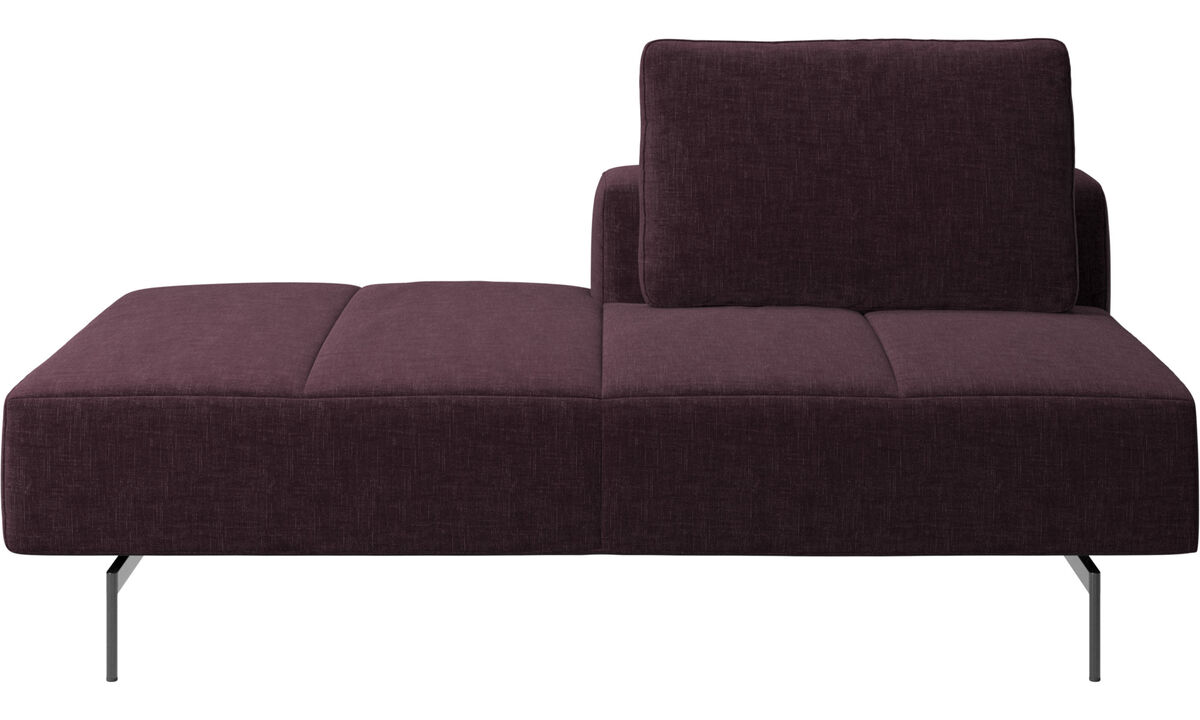 Sofas with open end - Amsterdam Iounging module for sofa, back rest right, open end left - Red - Fabric