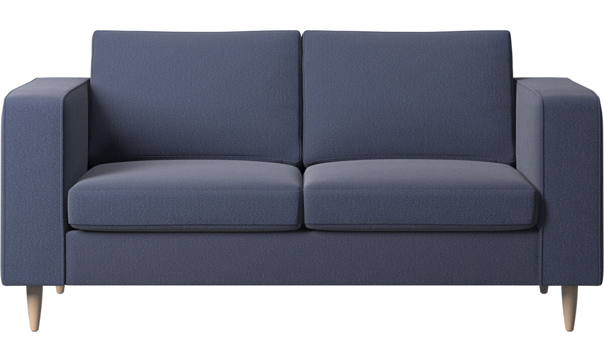 2 seater sofas - Indivi 2 sofa - Blue - Fabric