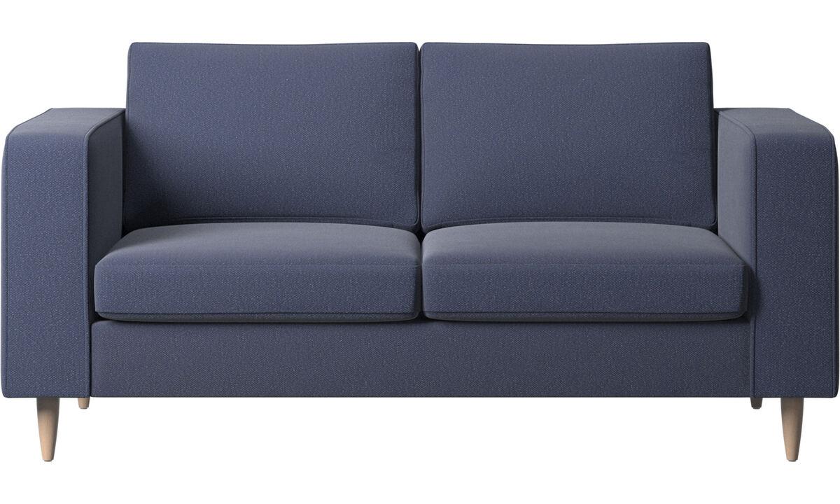 Sofás de 2 plazas - sofá Indivi 2 - En azul - Tela