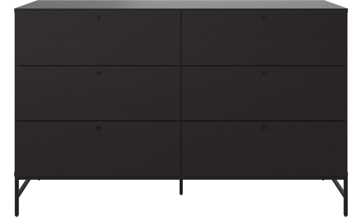 Chests of drawers - Bordeaux double dresser - Black - Oak
