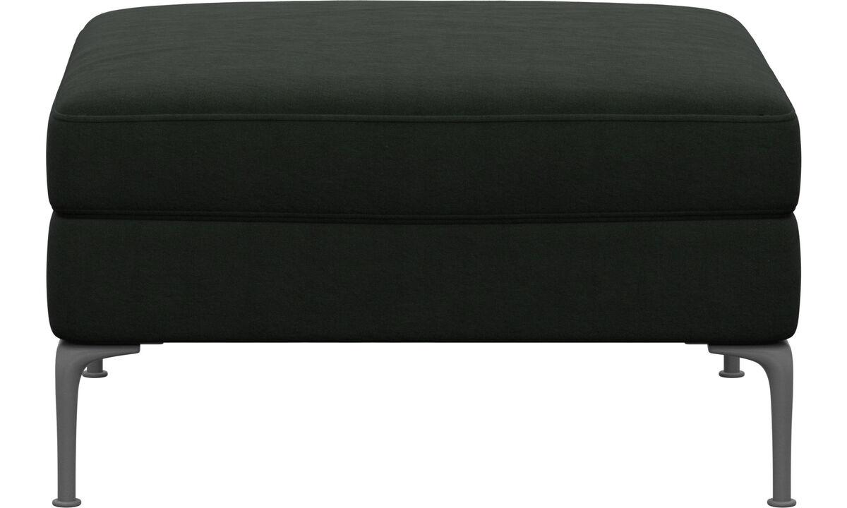 Footstools - Marseille footstool - Green - Fabric