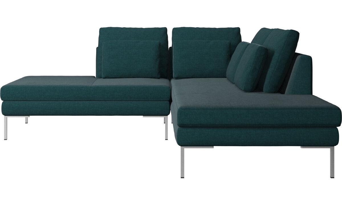 Sofas with open end - Istra 2 divano con lounge - Blu - Tessuto