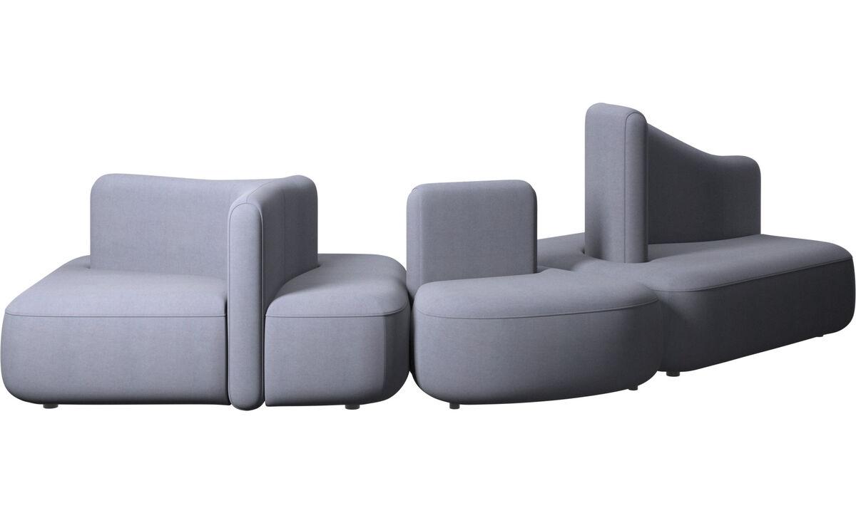 Modulárne sedačky - Sedačka Ottawa - Modrá - Látka