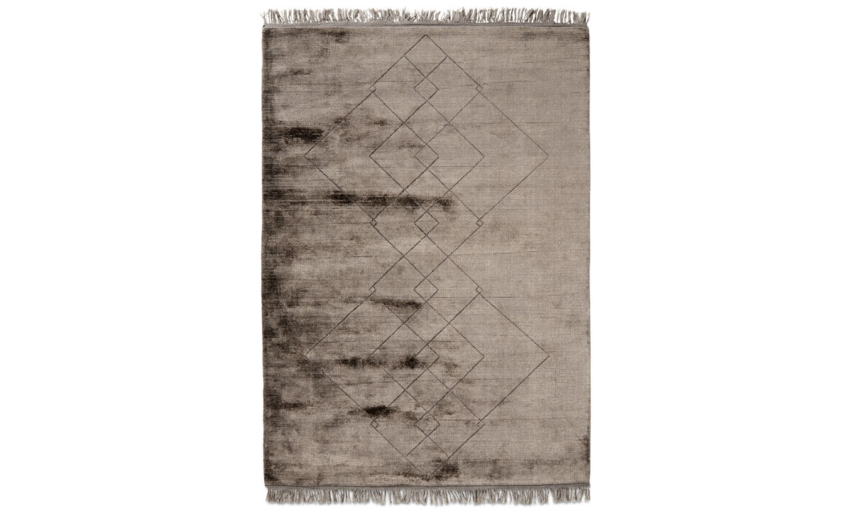 Rectangular rugs - Tappeto Connection - rettangolare - Marrone - Lana