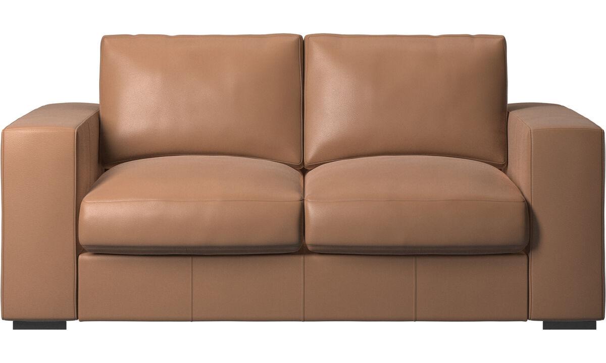 2 seater sofas - Cenova sofa - Brown - Leather