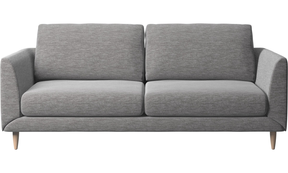 Sofás de 2 plazas y media - Sofá Fargo - En gris - Tela