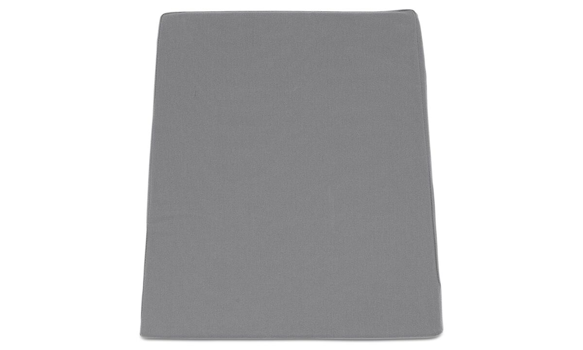 Outdoor dining furniture - seat cushion (for in- and outdoor use) - Gray - Fabric