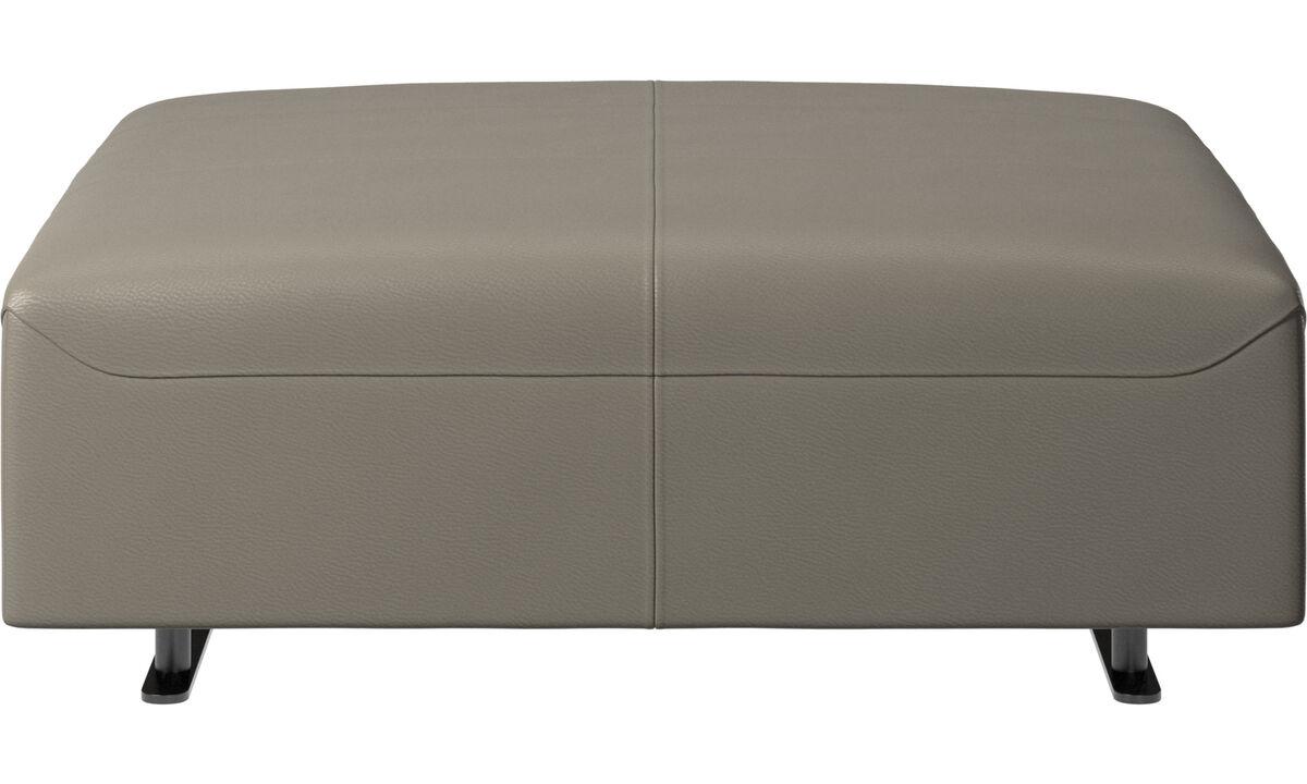 Footstools - Hampton footstool - Grey - Leather