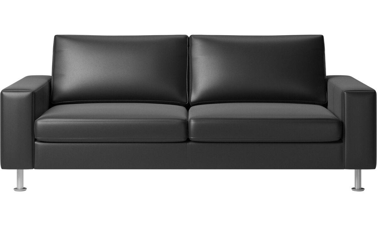 Sofa beds - Indivi sofa bed - Black - Leather
