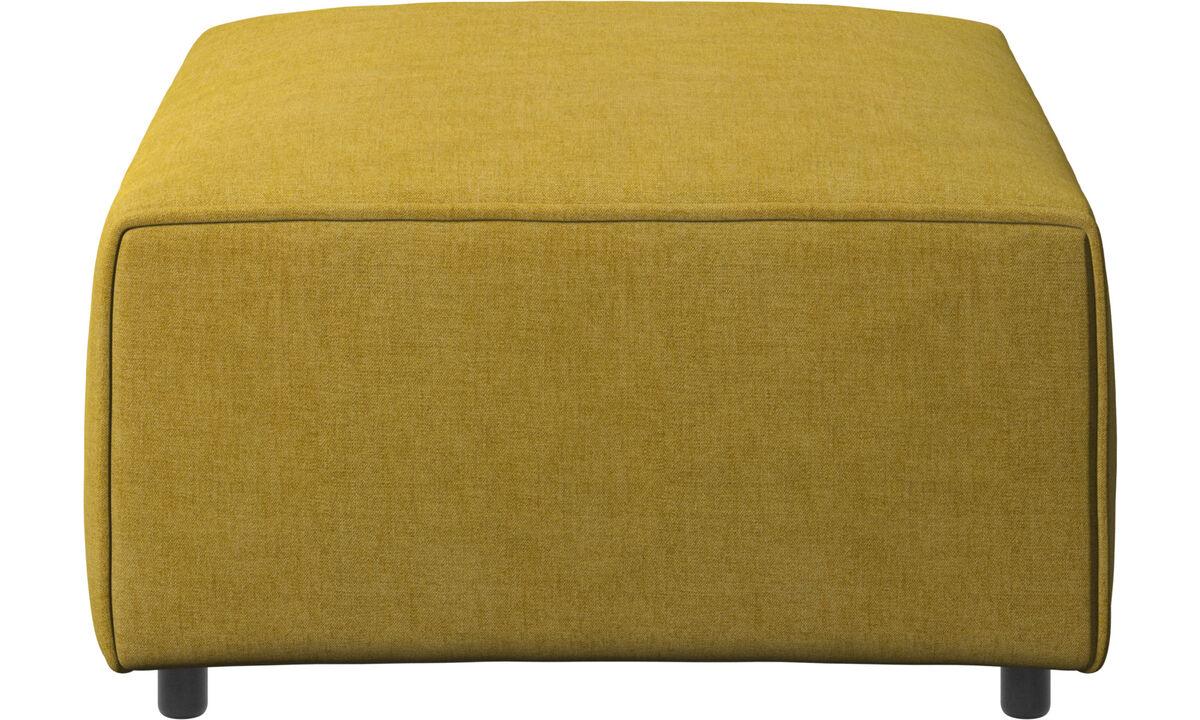 Sofás modulares - puf Carmo - En amarillo - Tela