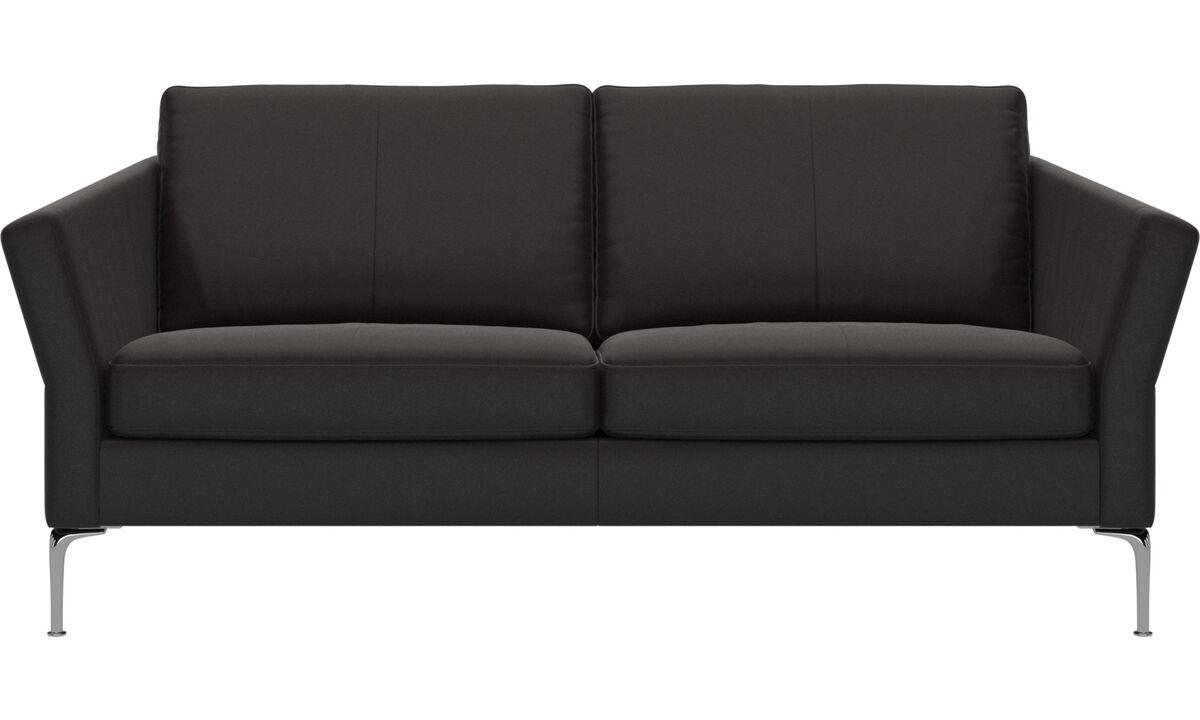 2.5 seater sofas - Marseille sofa - Brown - Leather