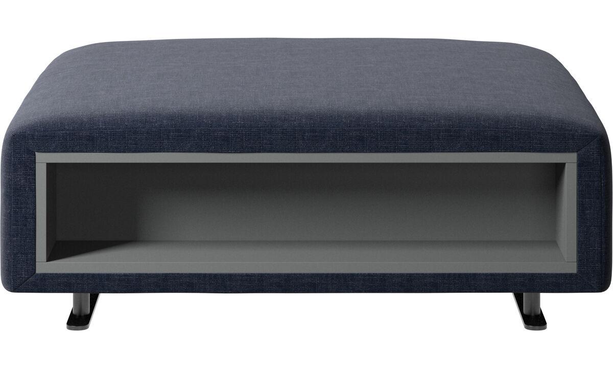 dunkelblauer napoli stoff hampton puff mit stauraum auf. Black Bedroom Furniture Sets. Home Design Ideas