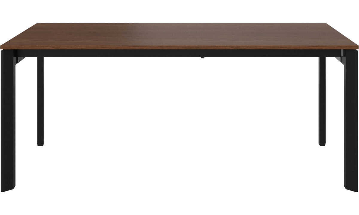 Dining tables - Lyon table with supplementary tabletop - square - Brown - Walnut