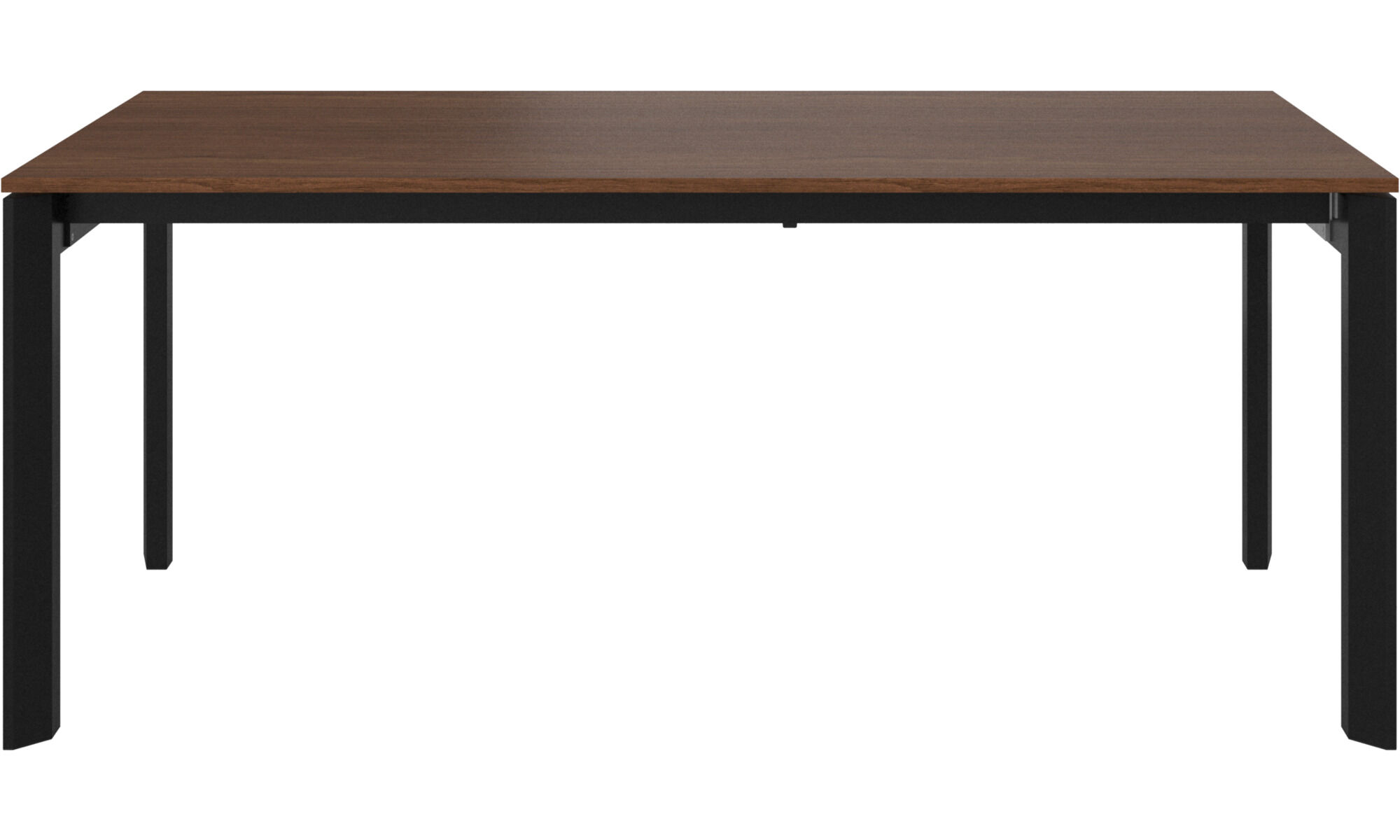 Dining Tables   Lyon Table With Supplementary Tabletop   Rectangular    Brown   Walnut