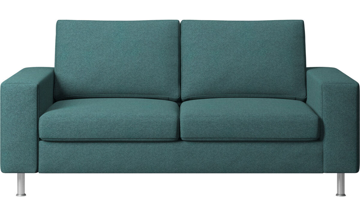 2 seater sofas - Indivi 2 sofa - Green - Fabric