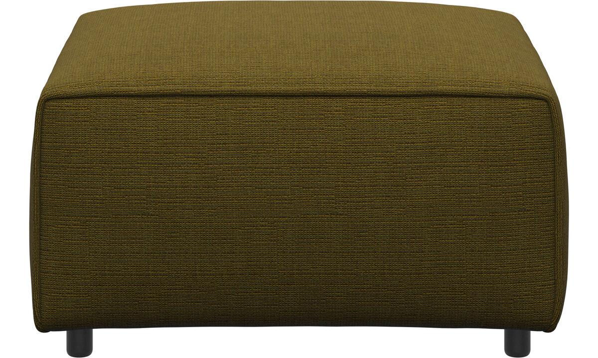 Modulære sofaer - Carmo puf - Gul - Stof