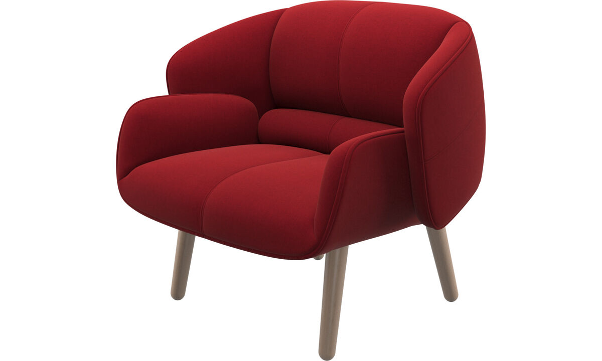 Armchairs - fusion chair - Red - Fabric