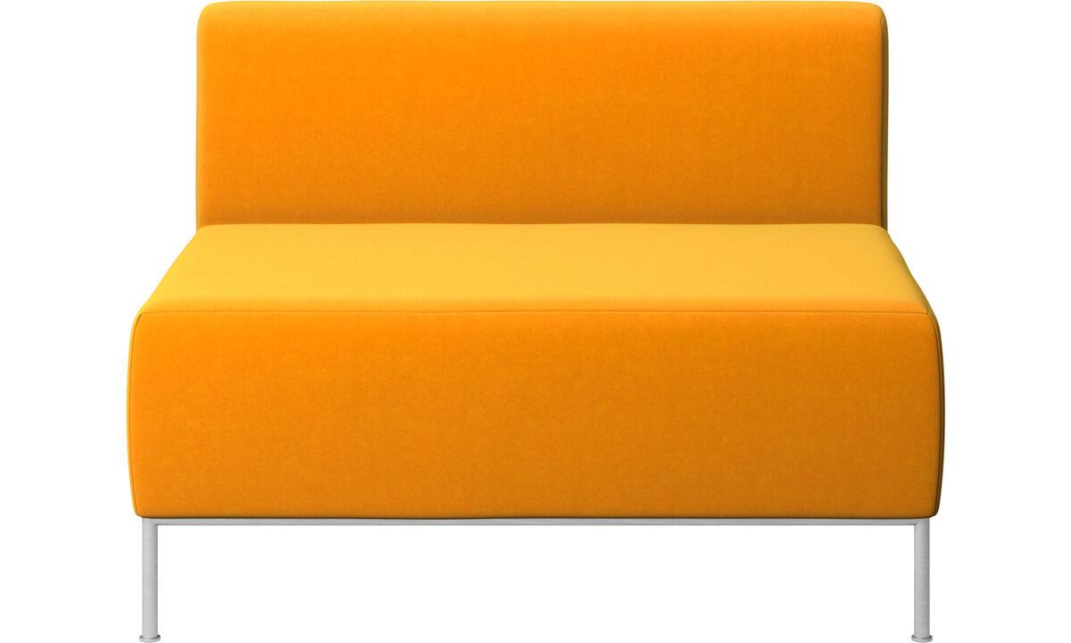 Sillones - Asiento Miami con respaldo - Naranja - Tela