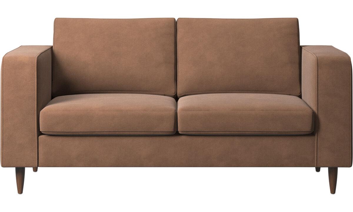 New designs - Indivi 2 sofa - Brown - Fabric