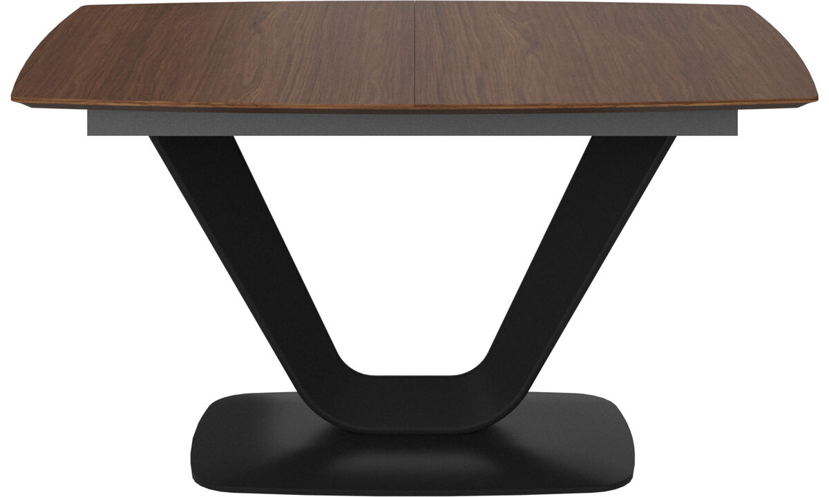 Mesas de comedor - Mesa extensible con tablero suplementario Alicante - rectangular - En marrón - Nogal