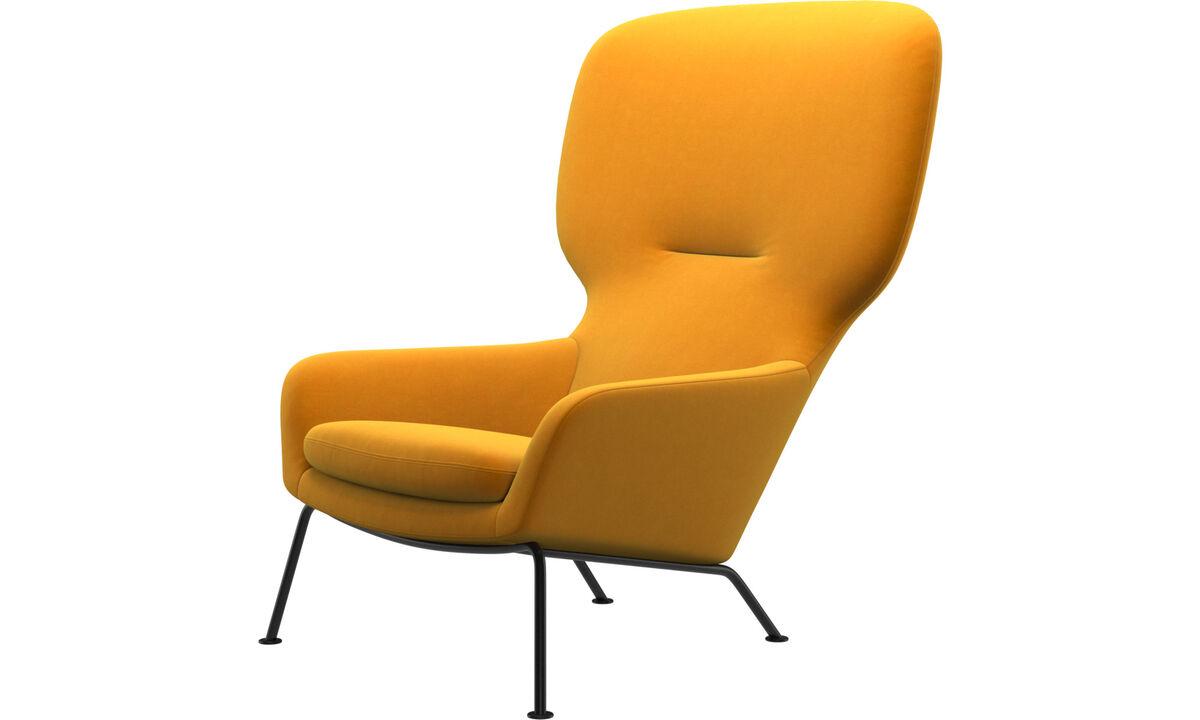 Armchairs - Dublin chair - Orange - Fabric
