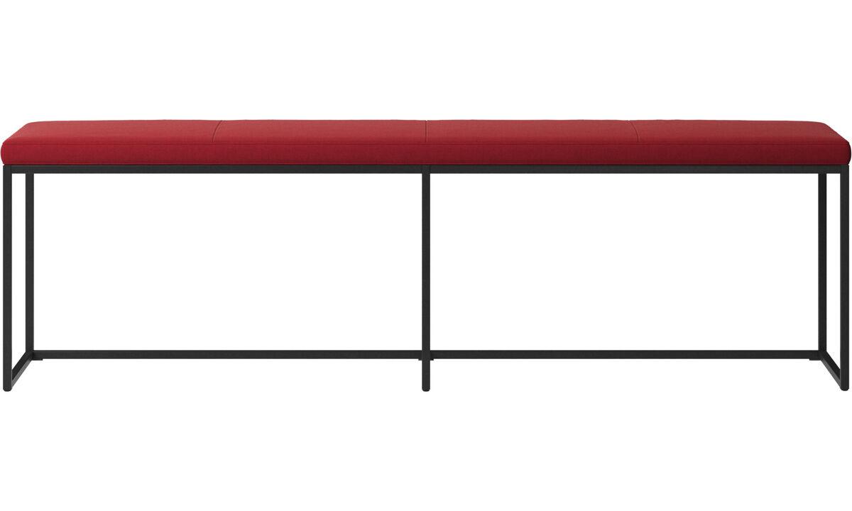 Bænke - London stor bænk med hynde - Rød - Stof