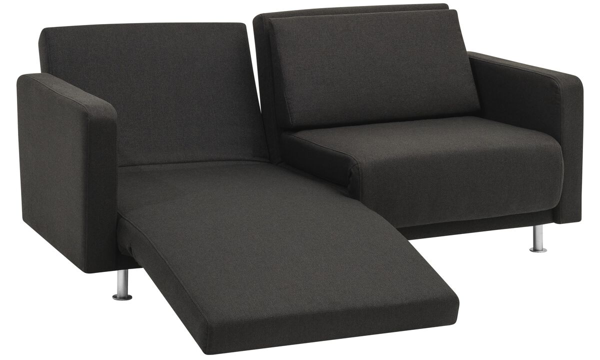 Design furniture in time for the Holidays - Melo 2 sofa with reclining and sleeping function - Black - Fabric