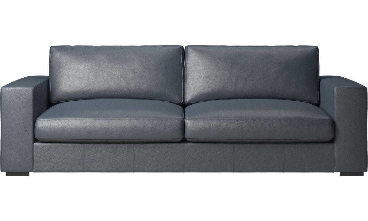 3 seater sofas - Cenova sofa - Blue - Fabric