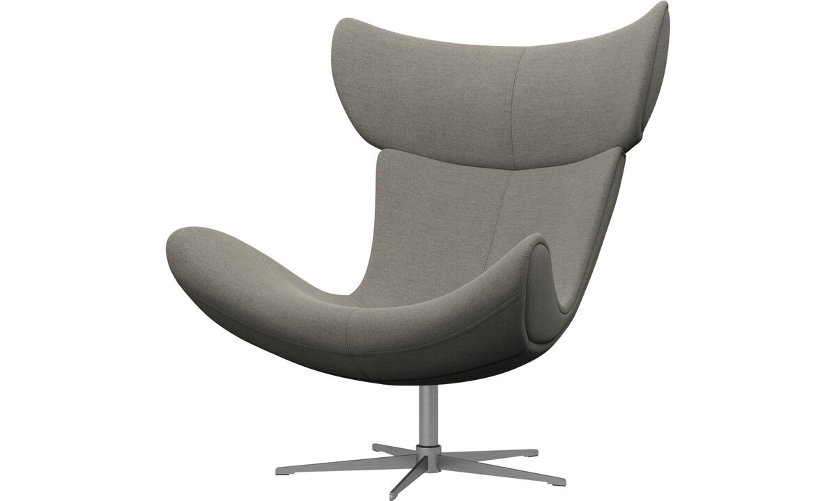Armchairs - Imola chair with swivel function - Beige - Fabric