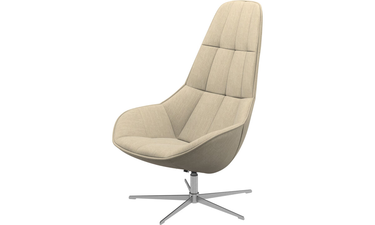 Armchairs - Boston chair with swivel function. Also available with tilt function - Brown - Fabric