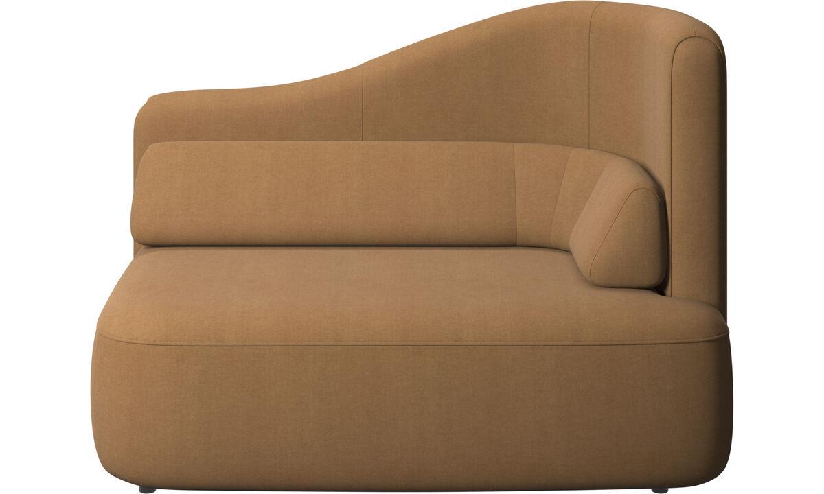 Sofás modulares - módulo Ottawa de 1.5 plazas brazo derecho - En marrón - Tela