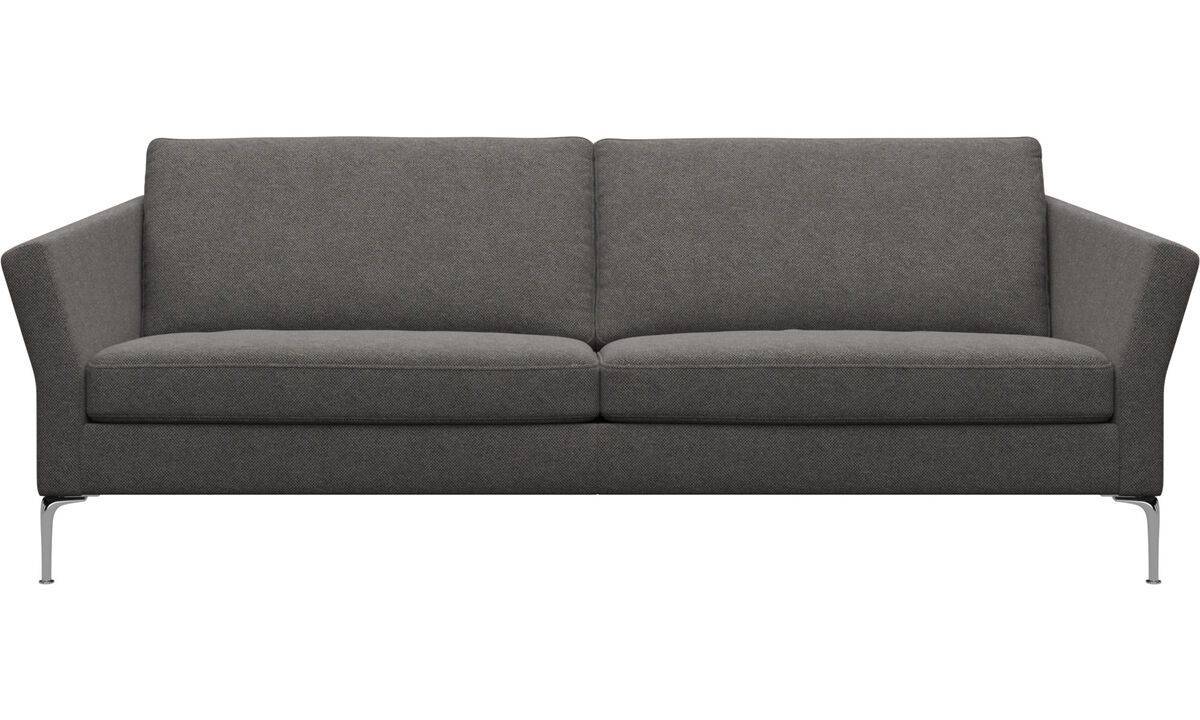 3 seater sofas - Marseille sofa - Gray - Fabric