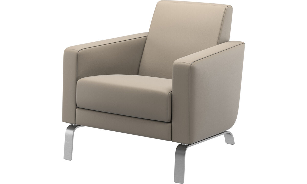 Armchairs - Fly chair - Beige - Leather
