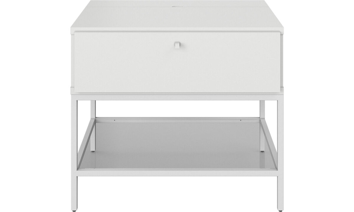 Nightstands - Bordeaux nightstand - rectangular - White - Lacquered