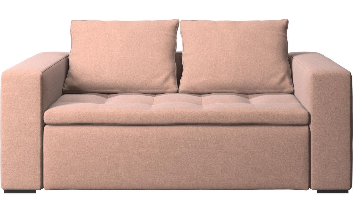 2 seater sofas - Mezzo sofa - Red - Fabric