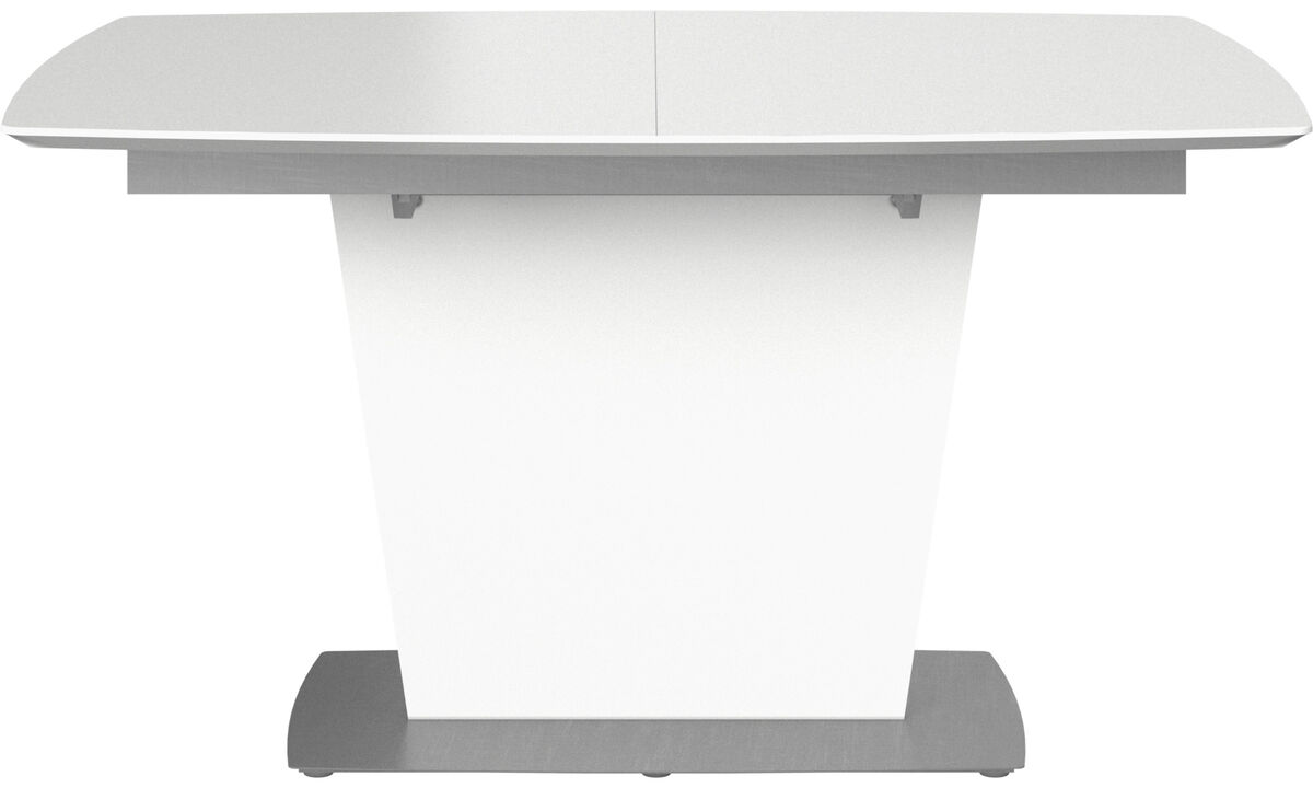 Dining tables - Milano table with supplementary tabletop - rectangular - White - Lacquered