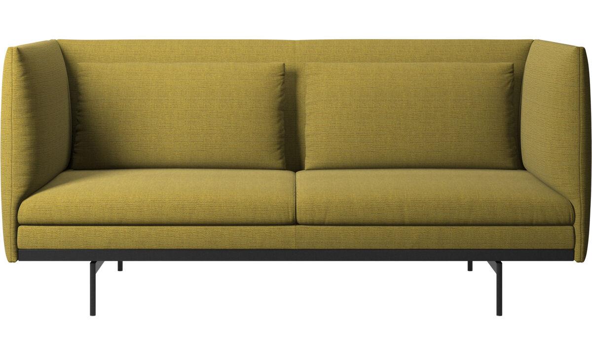 2 seater sofas - Nantes sofa with cushions - Yellow - Fabric