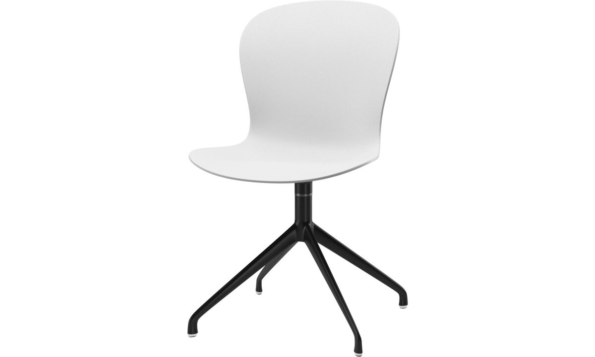 Dining chairs - Adelaide chair with swivel function - White - Lacquered