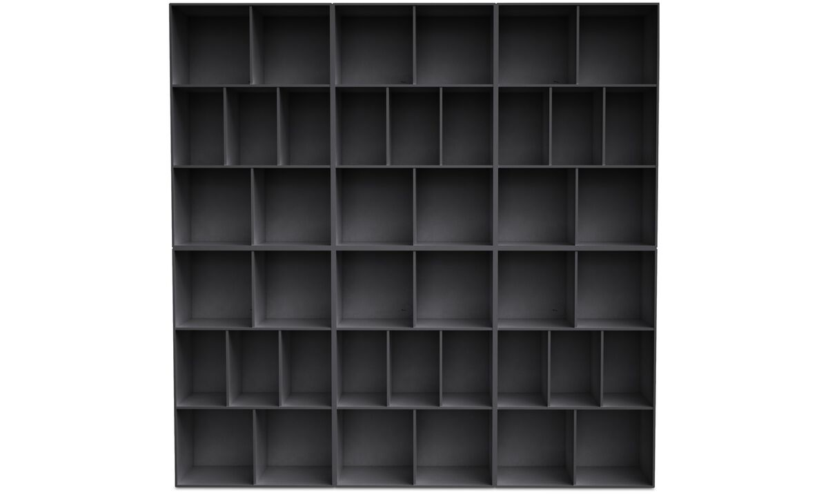 Bookcases - Como bookcase - Grey - Lacquered