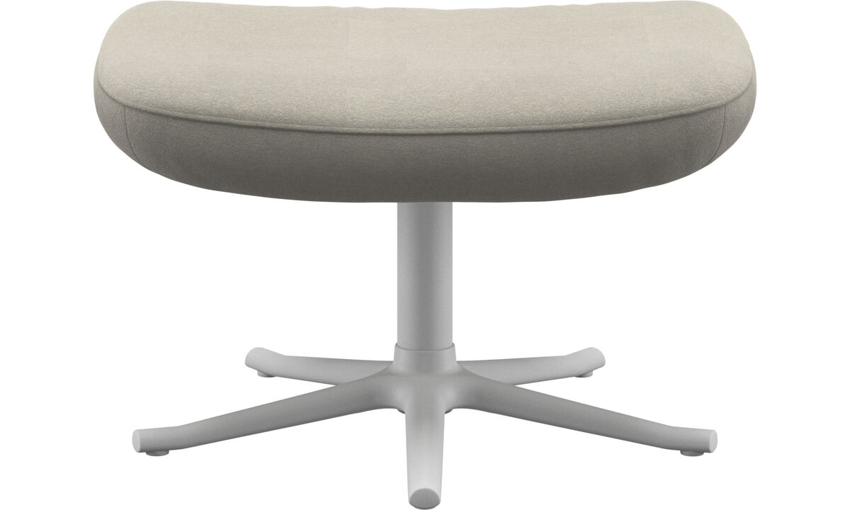 Footstools - Lucca footstool - White - Fabric