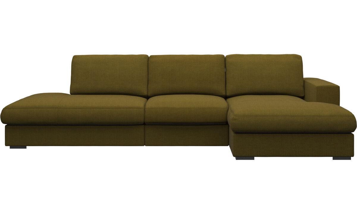 3 seater sofas - Cenova divano con lounge e penisola - Giallo - Tessuto