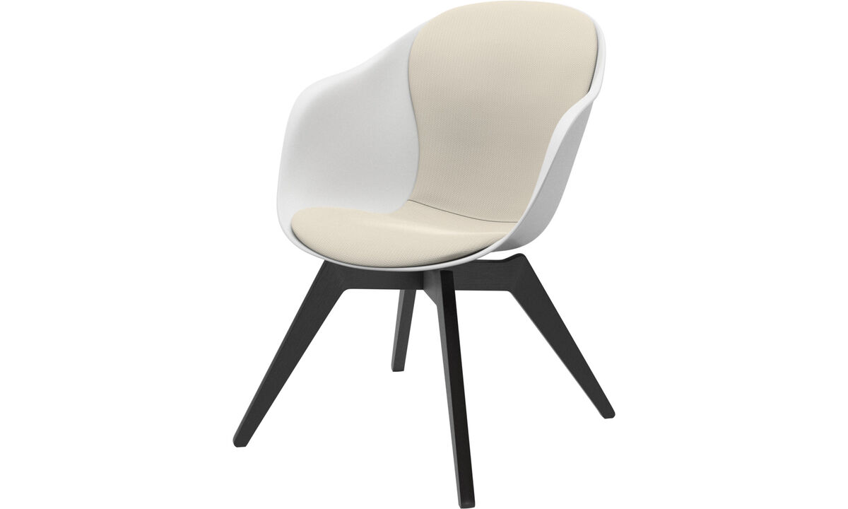 Armchairs - Adelaide lounge chair - White - Fabric