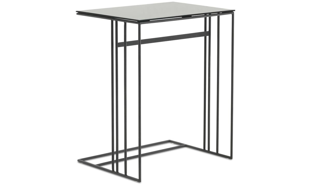 Tables basses - table d'appoint Alba - carré - Gris - Verre