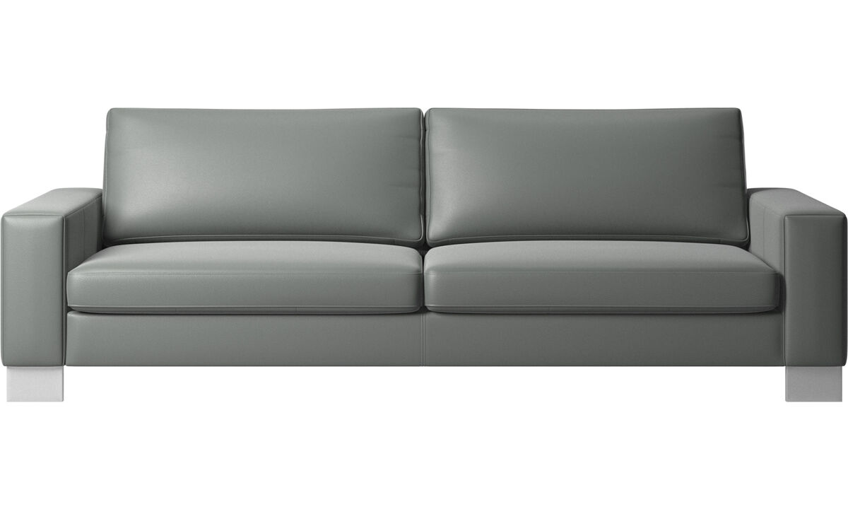New designs - Indivi 2 sofa - Gray - Leather