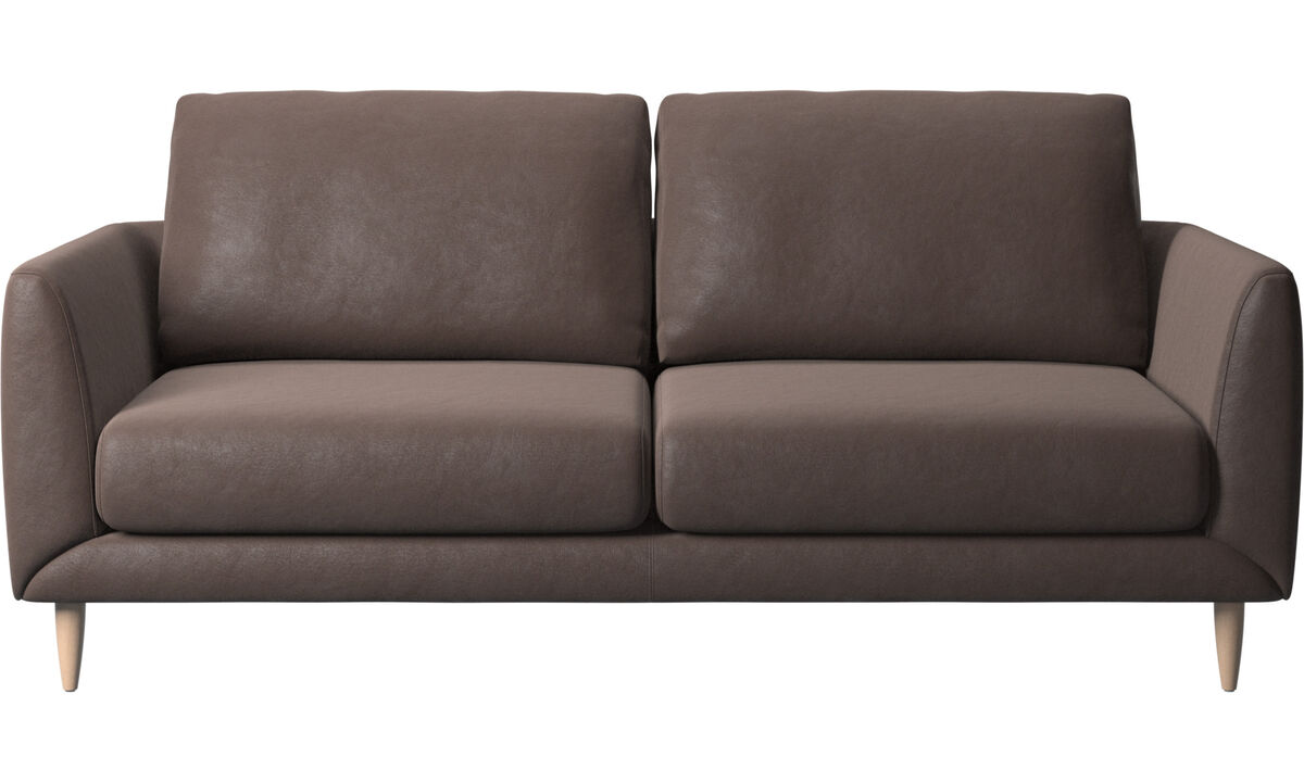 2.5 seater sofas - Fargo sofa - Brown - Leather