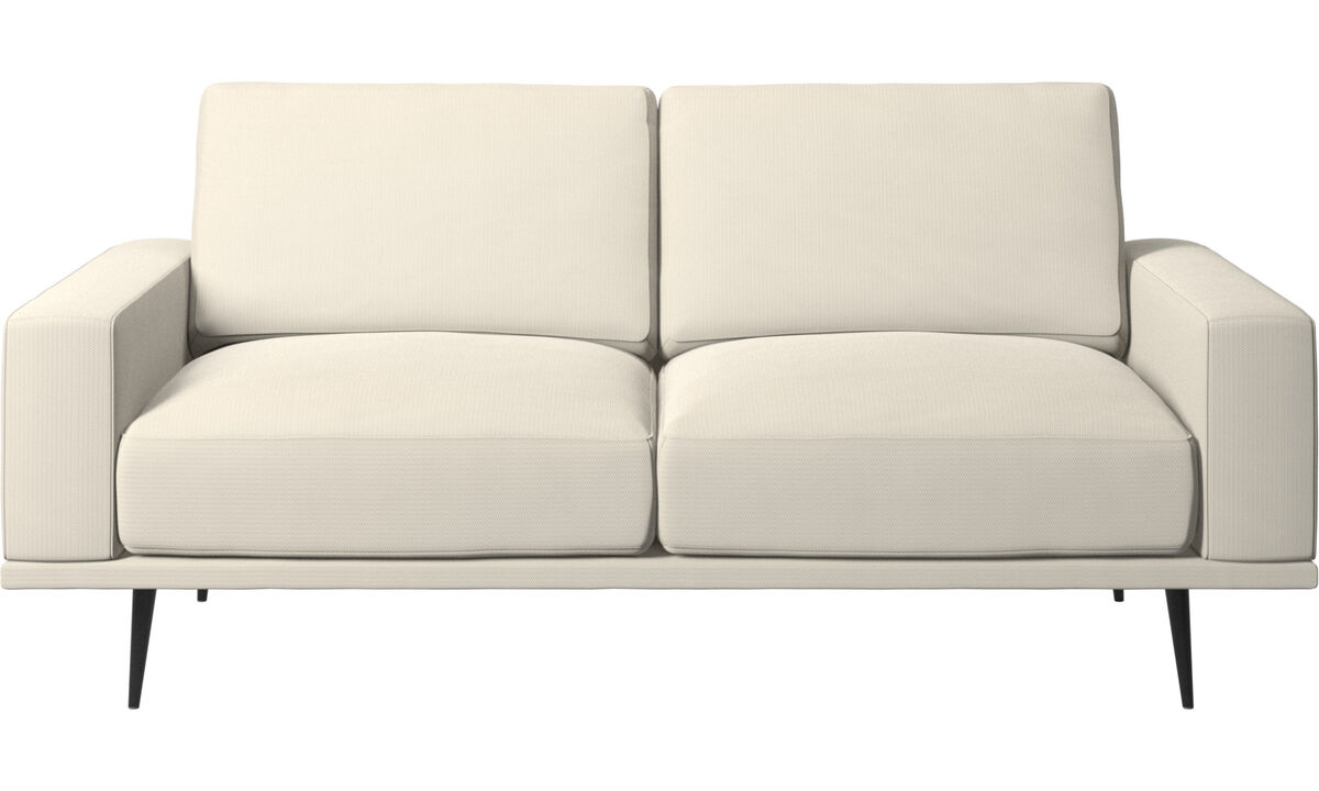 2 seater sofas - Carlton sofa - White - Fabric