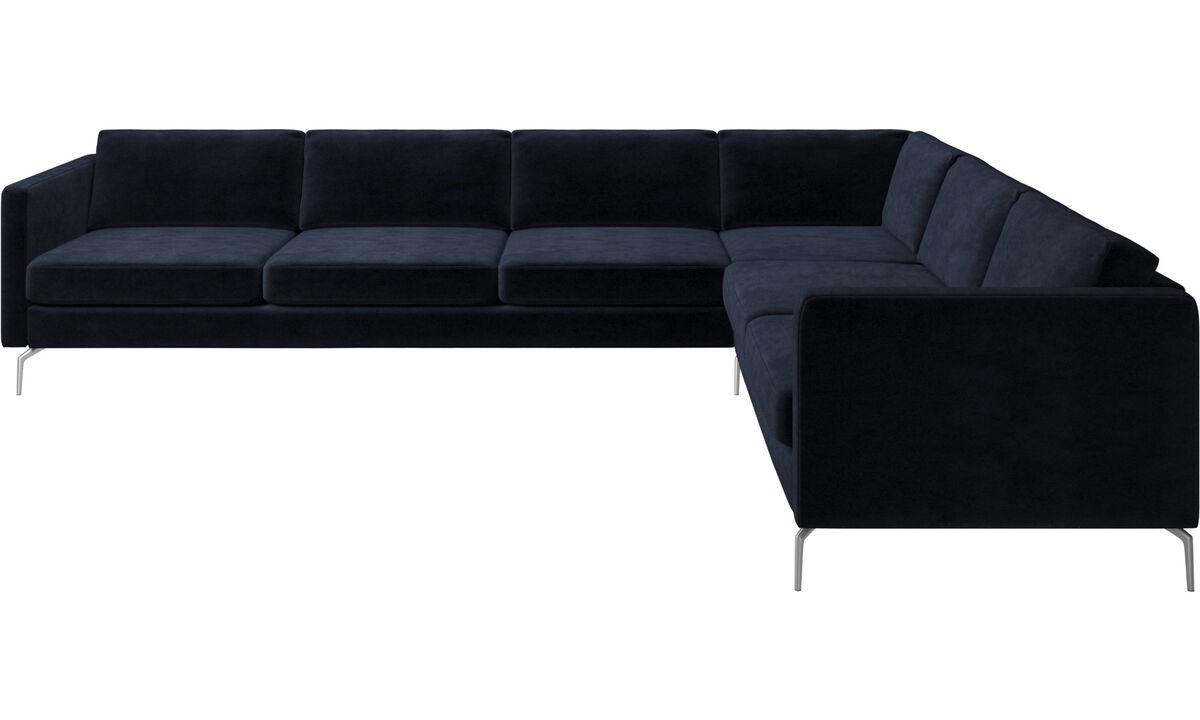Corner sofas - Osaka corner sofa, regular seat - Blue - Fabric